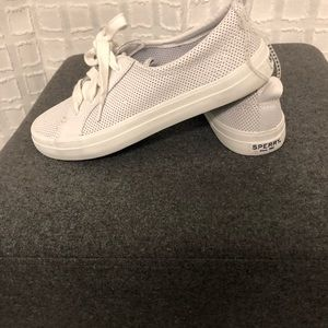 Sperry White Leather Sneakers- New